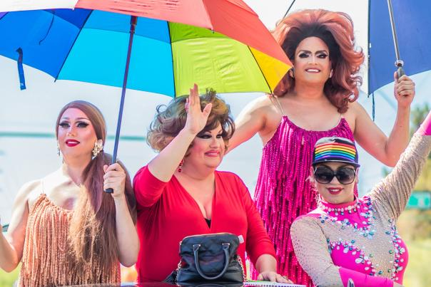 Charlie's Drag Queens in Phoenix Pride Parade