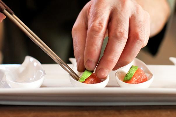 Sushi Being Made at Nobuo