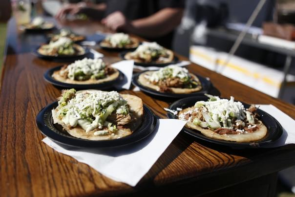 Table of Taco's at Arizona's Taco Festival