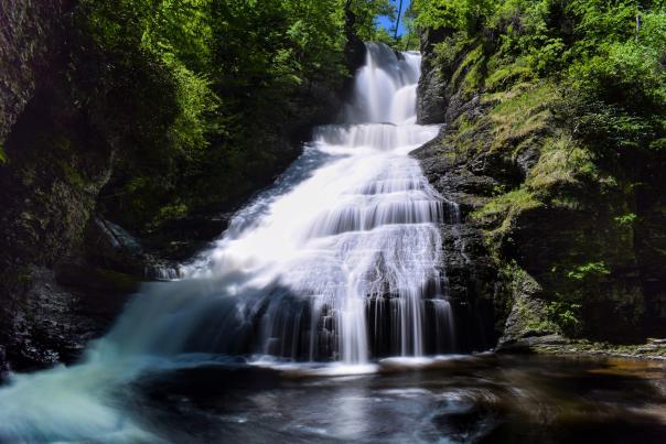 Dingmans Falls in the Pocono Mountains