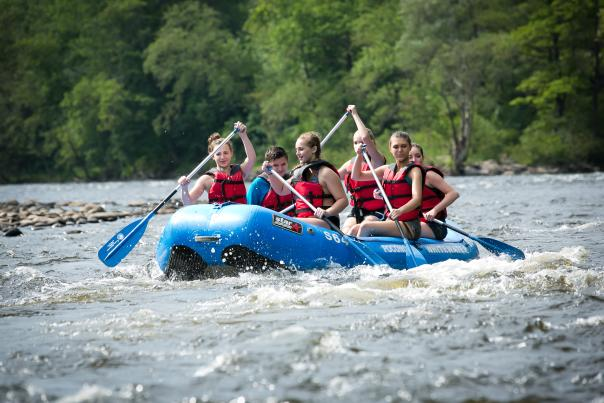 Group Whitewater Rafting in the Pocono Mountains