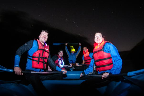Moonlight Whitewater Rafting in the Poconos