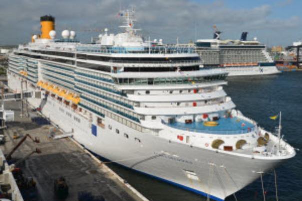 Costa Deliziosa docked at Port Everglades