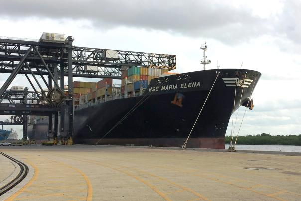 MSC Maria Elena docked at Port Everglades