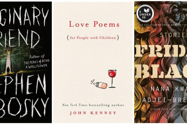 three book covers for different authors