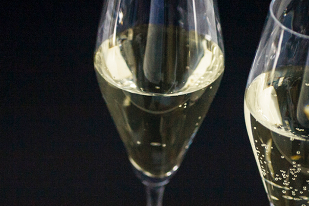 Two champagne flutes for New Year's Eve