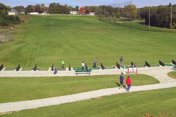 Driving Range at Button Hole Golf Course in Providence RI