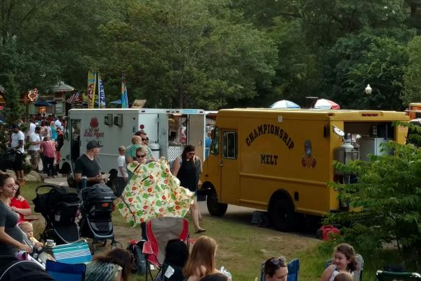 Championship Melt and Fusion Gourmet Food Trucks at an Event in Providence RI