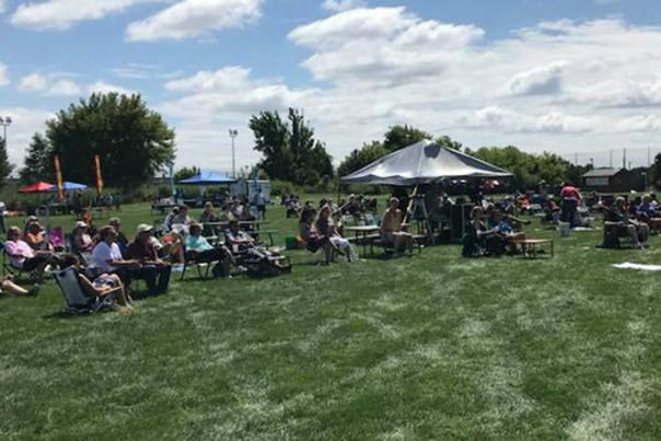 People on the Grass at RI Blues Festival