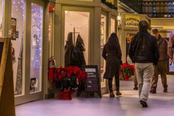 Holiday shopping at the Arcade