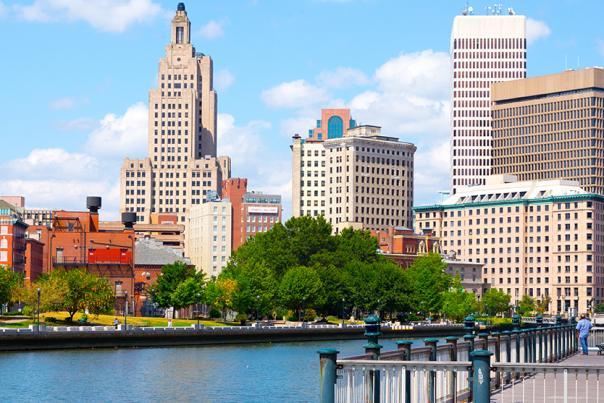 Providence Skyline Aerial View