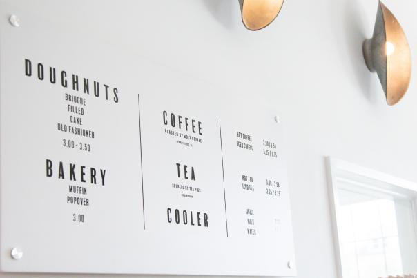Knead Doughnuts menu