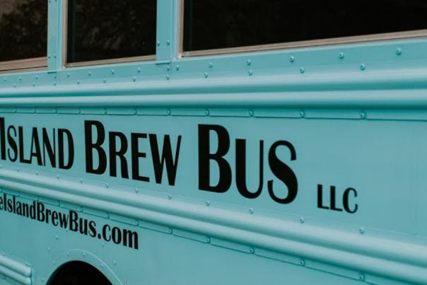 Side View of The Rhode Island Brew Bus