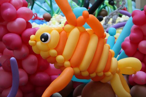 A fish created by balloons