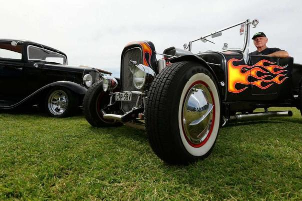 Car show at Sonnenberg Garden and Mansion