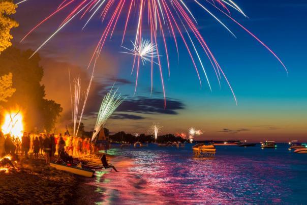 fireworks over Lake Ontario by Jim Montanus
