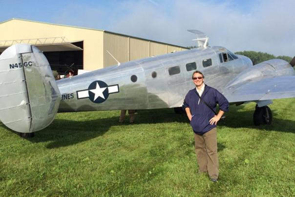 Dave Parfitt with Airplane at the War Airplane Museum