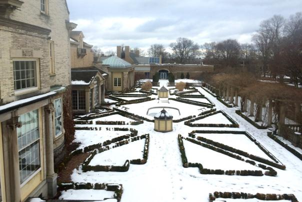 Snow Covered Gardens at the George Eastman Museum