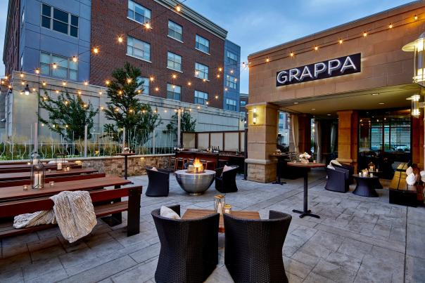 Patio space at Grappa Restaurant