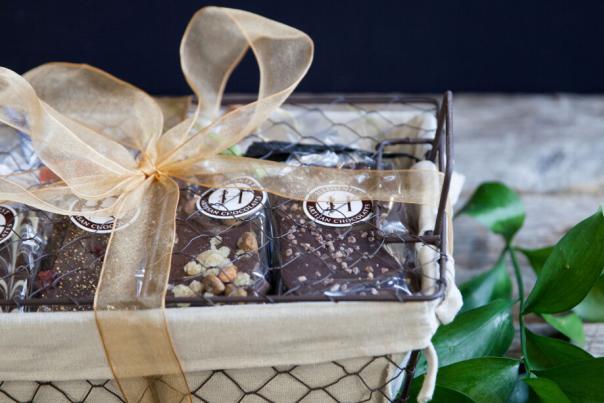 Hedonist Chocolate Bark Basket