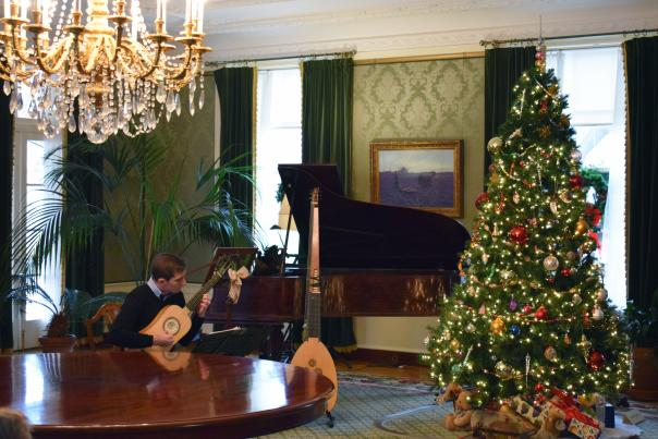 Eastman Museum in Rochester, NY decorated for the holiday season