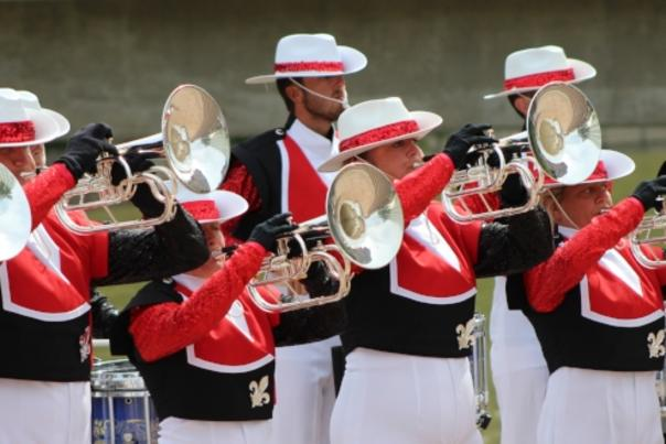 Kidsgrove Scouts Drum and Bugle Corps Perform in Rochester