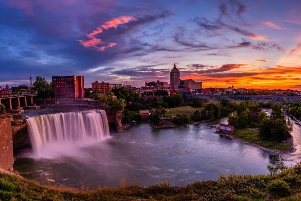 High Falls in Downtown Rochester