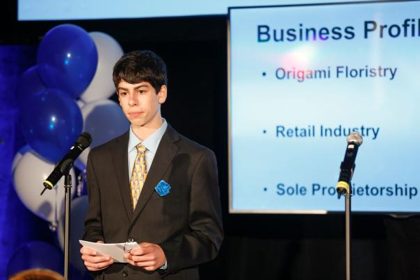 Student compete in Young Entrapenuer Academy