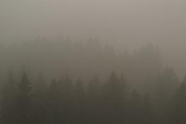 Glide, Oregon covered in wildfire smoke.