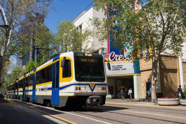 Lightrail system in Sacramento