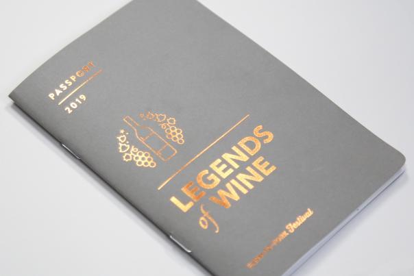 Legends of Wine Passport Cover