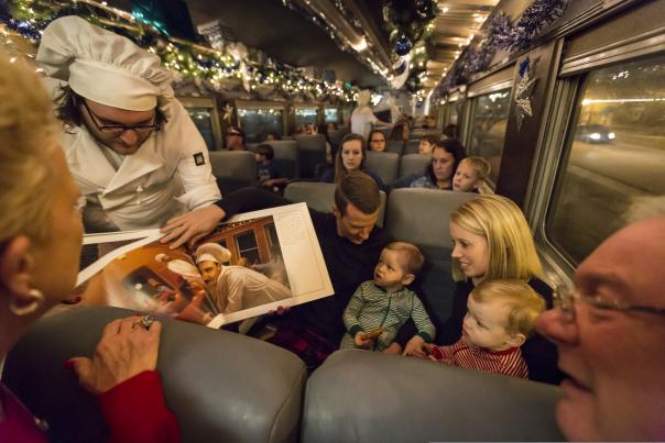 Polar Express story being told on train
