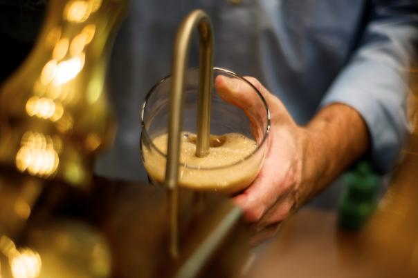 Pouring a Pint at Freewheel Brewing Co.