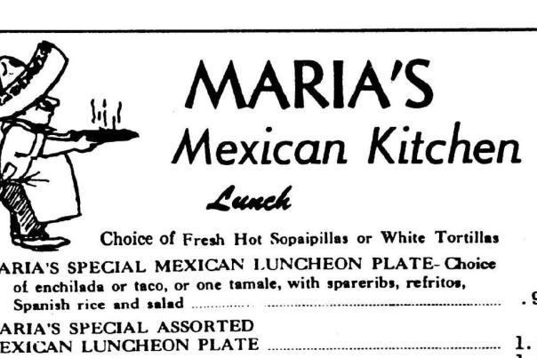 marias menu