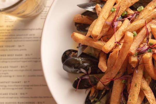 The Mercantile Kitchen and Bar mussels and fries