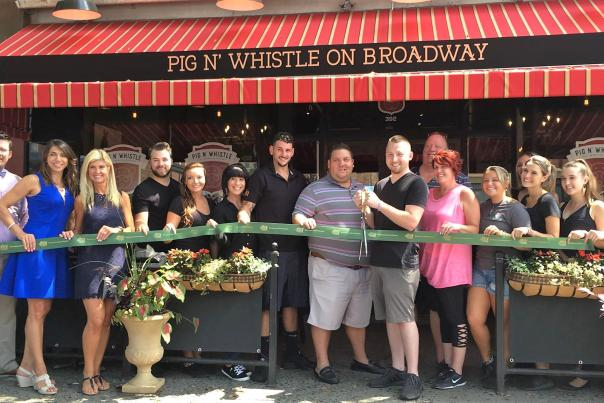 Pig 'n Whistle on Broadway ribbon cutting