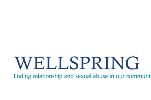 Wellspring logo blue ending relationship abuse in our community