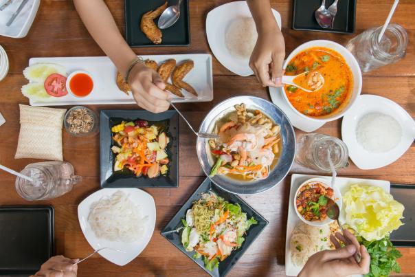 Thai Cuisine multiple dishes