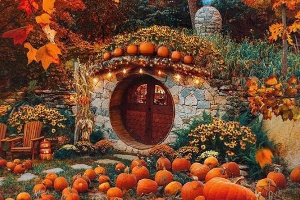 Hobbit House Pumpkins Preserve KJP