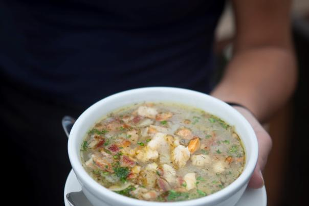 Matunuck Oyster Bar's Clear, Rhode Island Clam Chowder