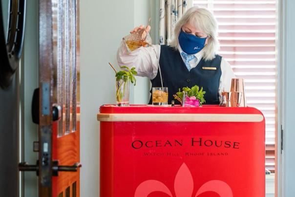 Ocean House Mobile Bar Cart