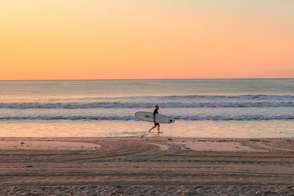Surfer Narragansett Beach