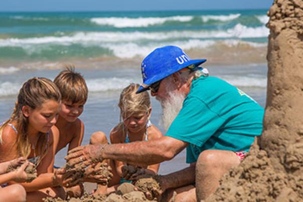 family building a-sandcastle
