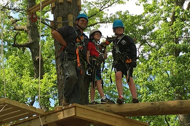 Exploring the Treetop Obstacles & Zip Lines at Edge Adventure Park NW Indiana