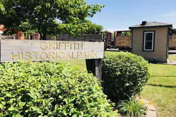 Griffith Historical Park sign