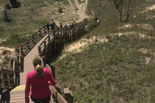 Hiking the Succession Trail at Indiana Dunes National Park