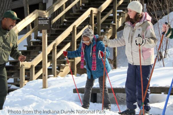 Indiana Dunes Cross-Country Skiing