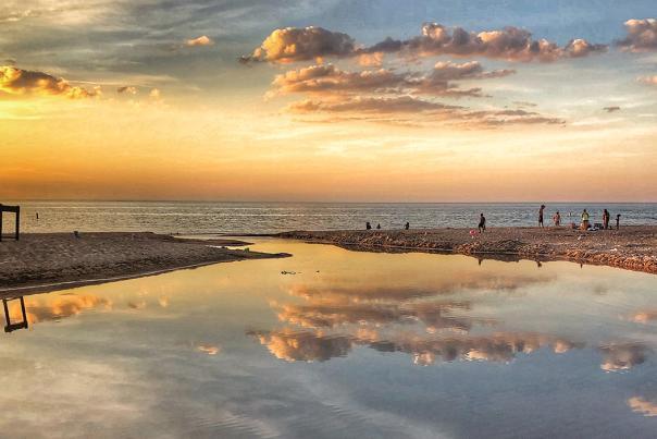 Sunsets along the South Shore of Lake Michigan