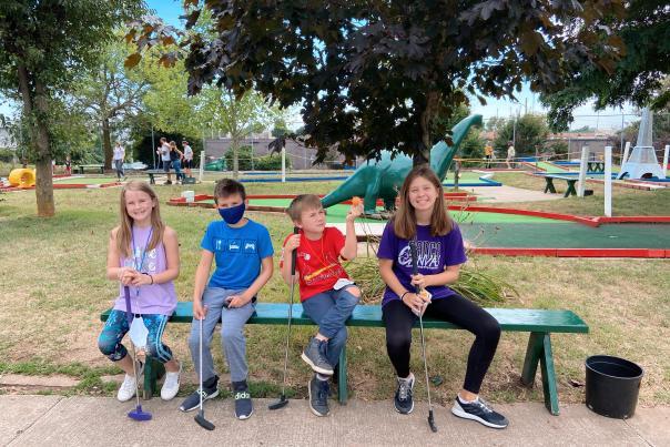 Kids at Fun Acre Mini Golf