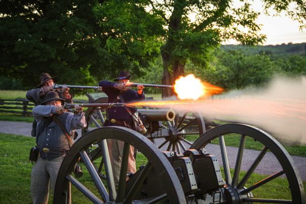 Weapons firing at Wilson's Creek National Battlefield